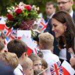 A beaming Kate greets crowds in Warsaw Photo C GETTY