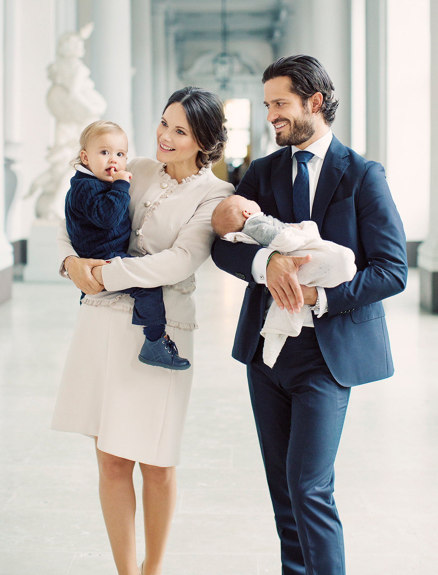 In the photo of the new family of four Prince Alexander stares wide eyed at the camera alongside his younger sibling Photo C ERIKA GERDEMARK THE ROYAL COURT SWEDEN