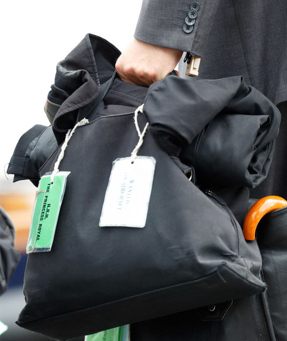 Anne, Princess Royal, travels with green tags attached to her luggage Photo (C) GETTY