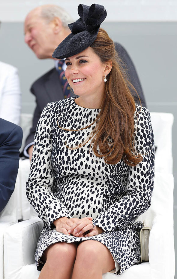 Duchess Kate dazzled the crowds even just a month before giving birth to George Photo (C) GETTY