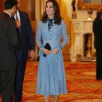 Duchess Kate looked stunning in a blue lace Temperley dress Photo C GETTY