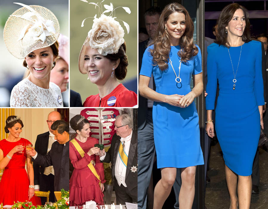 Duchess of Cambridge Catherine and Crown Princess Mary of Denmark look strikingly similar Photo (C)REX