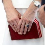 Duchess of Cambridge is known for her elegant jewelry including her Cartier watch and sapphire engagement ring that originally belonged to Princess DianaGetty
