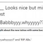 Fans are split about the new tattoo with some backing the stars decision and others firmly against it