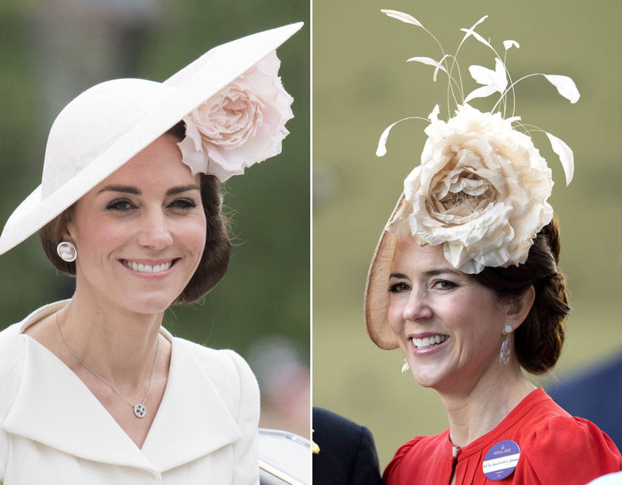 Flower power Kate and Mary have an impressive collection of hats Photo (C) REX