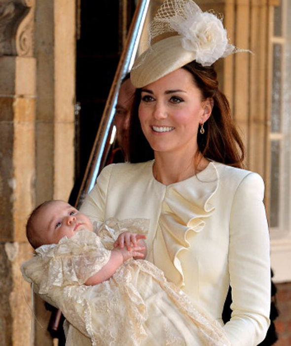 HRH Prince George Of Cambridge was Christened at St James' Palace Photo (C) GETTY