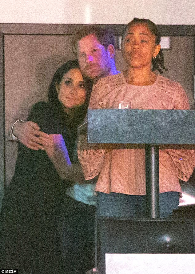 Harry joins Meghan Markle and her mother Doria Ragland on Saturday