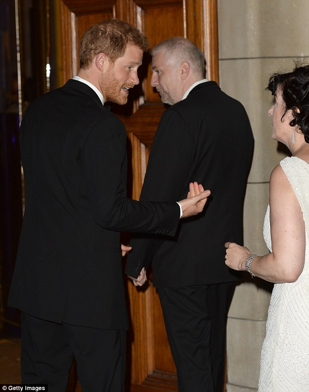 Harry mingled with guests as the gala, which was attended by Prince William in 2015