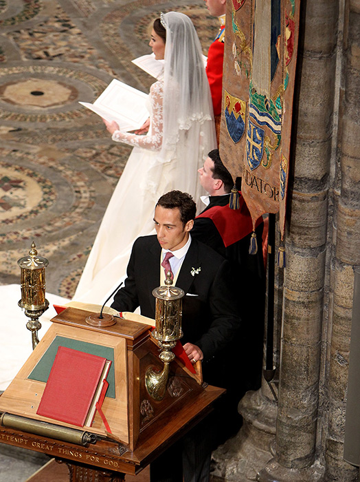 He also helped James Middleton prepare for his bible reading Photo (C) GETTY IMAGES