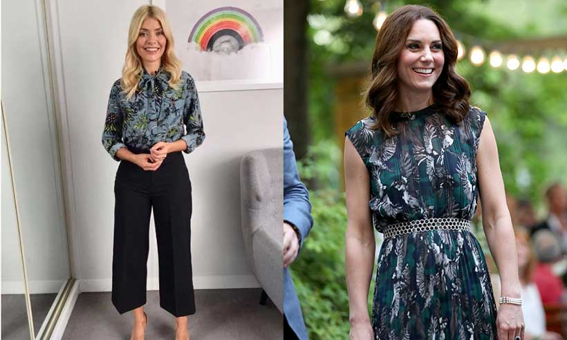 Holly Willoughby wears £350 blouse by Kates go to designer Photo C GETTY