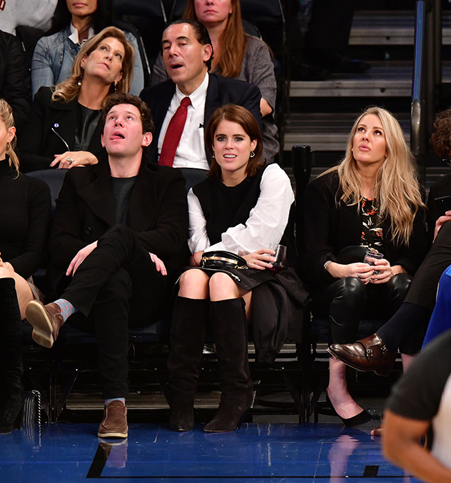 Jack Brooksbank, Princess Eugenie of York and Ellie Goulding attend the Brooklyn Nets Vs New York Knicks game at Madison Square Garden Photo (C) GEJack Brooksbank, Princess Eugenie of York and Ellie Goulding attend the Brooklyn Nets Vs New York Knicks game at Madison Square Garden Photo (C) GETTY IMAGESTTY IMAGES