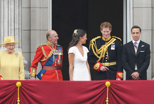 James Middleton (far right) was at the royal wedding in 2011 Photo (C) GETTY