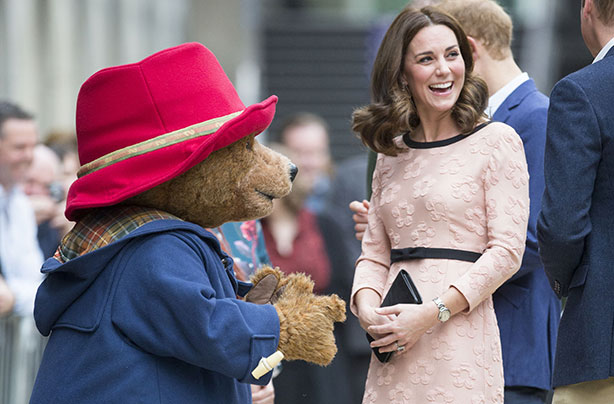 Kate Middleton and Paddington Bear at a recent event Photo C GETTY