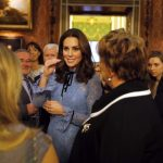 Kate Middleton chooses winged eyeliner for first public appearance Getty