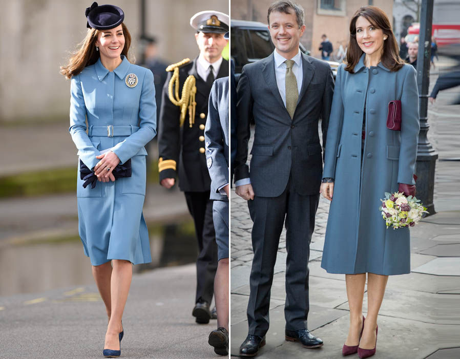 Kate and Mary have a very similar fashion style Photo (C) GETTY