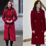 Kate and Mary keep warm with red belted coats on Royal engagements Photo C REX