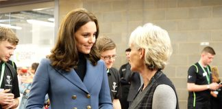 Kate caught up with Judy Murray at the stadium Photo (C) GETTY
