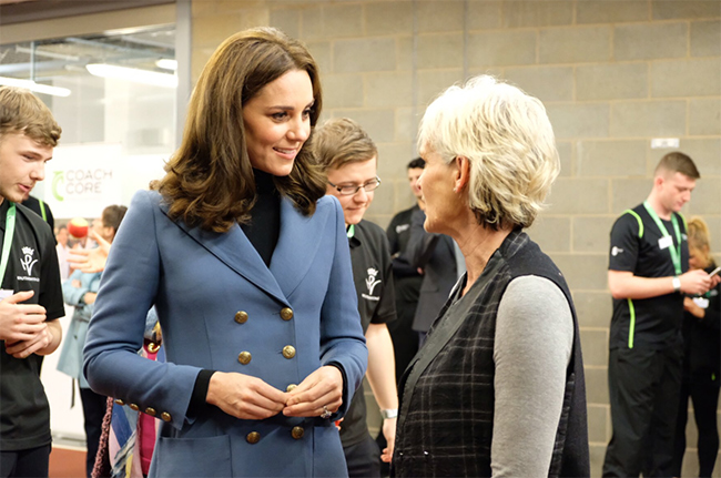 Kate caught up with Judy Murray at the stadium Photo C GETTY