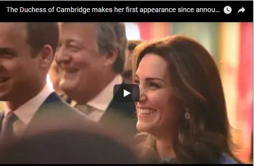 Kate dresses tiny bump in Temperley dress at palace reception