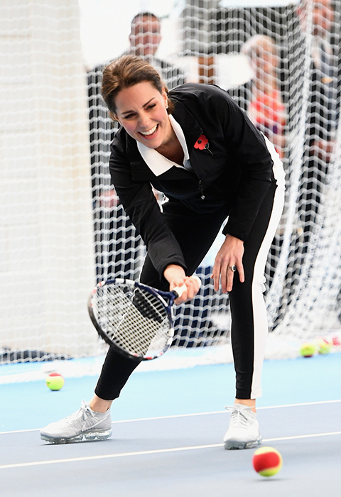 Kate opened up about her son at a visit to the Lawn Tennis Association Photo C GETTY