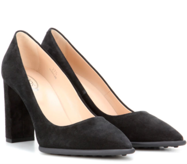 Kate's shoes were from Tod's and cost £335 Photo (C) GETTY