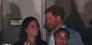 Meghan Markle and boyfriend Prince Harry at the Invictus Games with Meghan's mother Photo (C) GETTY IMAGES