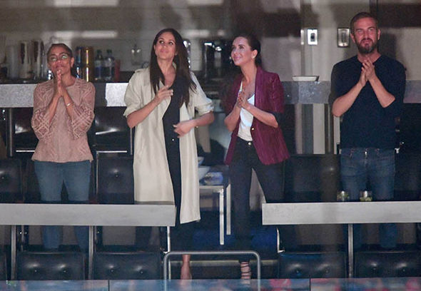 Meghan Markle enjoyed the ceremony with her mum, two best friends and Prince Harry Photo (C) WIREIMAGE