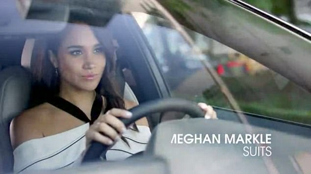 Meghan Markle, pictured, here in a TV advert has dropped the biggest hint of a Royal wedding having been photographed in a VW on her increasingly frequent visits to London