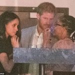 Meghan with Harry and her mother Doria at last months Invictus Games