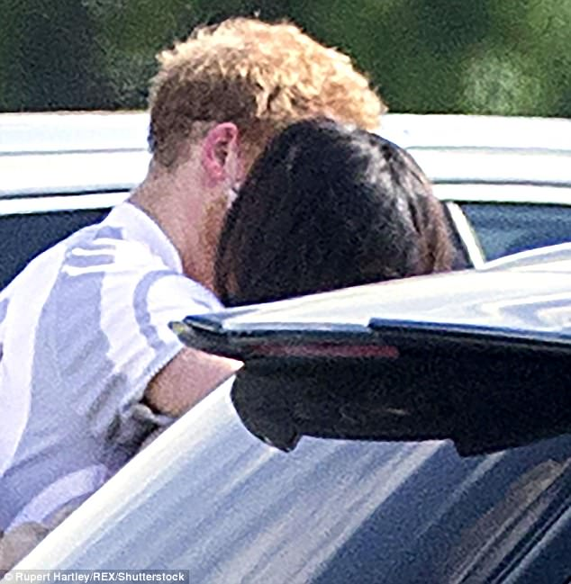 No royal boyfriend or girlfriend has spoken so openly about their relationship. Pictured The couple embrace after the polo at Cowarth Park in Berkshire on May 7, 2017
