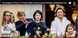Norwegian Prince (11Year) dabs during royal birthday celebration Break Protocol Like Father Like Son