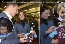 Prince George & Princess Charlotte VERY Delighted Get West Ham Shirts from Captain Mark Noble