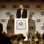 Prince Harry speaks during the 100 Women in Finance reception and gala dinner