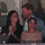 Prince Harry with Meghan Markle and her mother Doria Photo C GETTY IMAGES