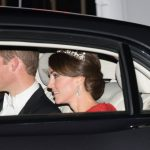 Prince William and Kate Middleton who is wearing a tiara made by Garrard London arrive for a state banquet to honour Chinas President Xi Jinping. Getty Images