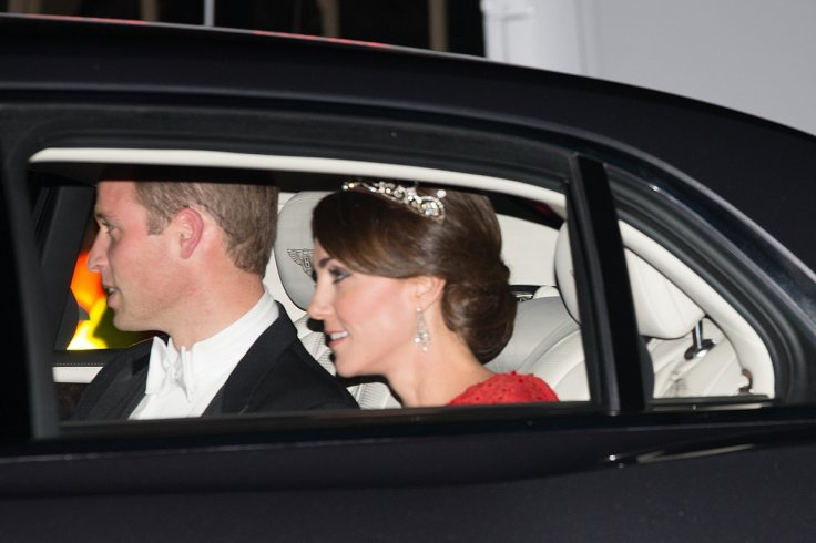 The diamond maple leaf brooch in the form of the national emblem of Canada was another diplomatic fashion move by Kate. Photo C Reuters.