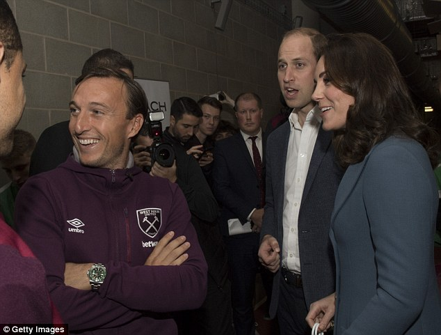 Prince William and Kate visited West Ham's London Stadium on Wednesday afternoon