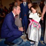 Prince William met with five year old Suzie McCash at the Pride of Britain Awards Photo C GETTY