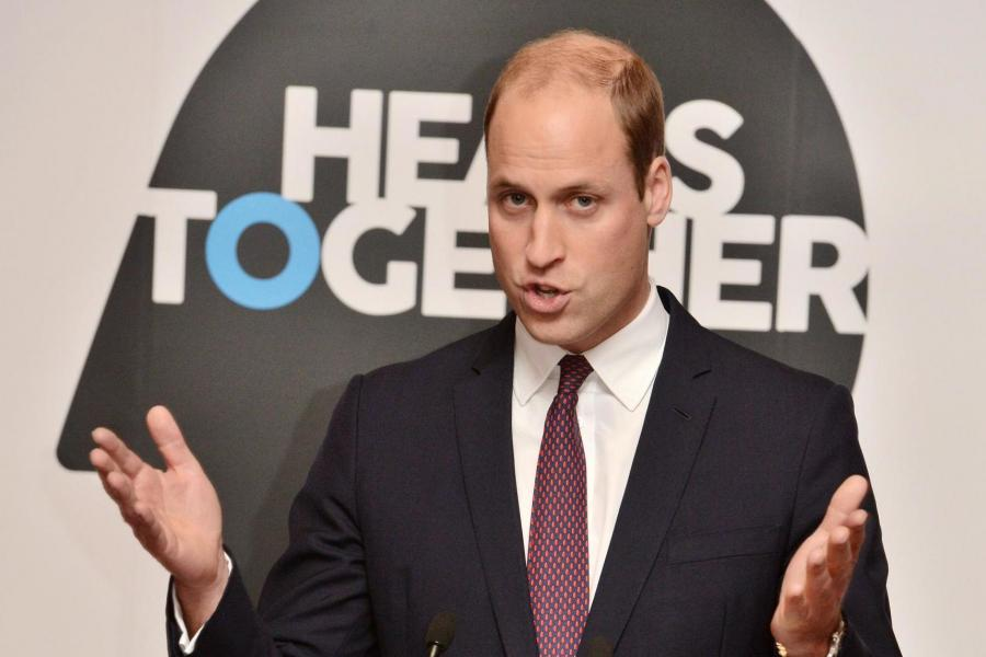 Prince William speaks at a reception on World Mental Health Day at St James' Palace on Tuesday. PA