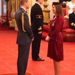 Rebecca was given the Royal Victorian Order by Prince William Photo C GETTY