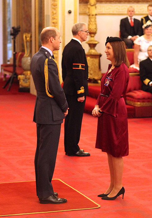 Rebecca was given the Royal Victorian Order by Prince William Photo (C) GETTY