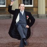Receiving his OBE at Buckingham Palace 1998