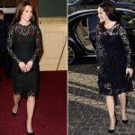 Snap Both Royals wear black knee length lace dresses Photo C REX