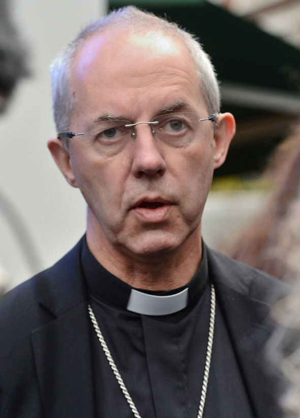 The Most Rev Justin Welby claimed he would rather avoid conducting the enormous event Photo C GETTY