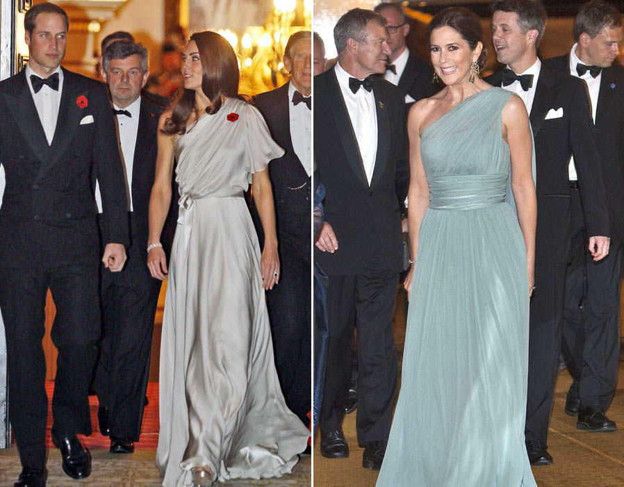 The Duchess and Crown Princess wow in these stunning off the shoulder numbers Photo (The Duchess and Crown Princess wow in these stunning off the shoulder numbers Photo (C) REXC) REX