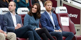 The Duchess and Prince Harry at the sporty engagement Photo (C) GETTY