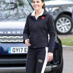 The Duchess of Cambridge arrives for a visit to the Lawn Tennis Association at the National Tennis Centre PA