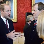 The Duke of Cambridge speaks to Alastair Campbell at the event at St James Palace. PA