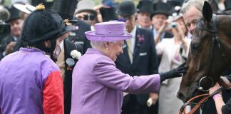 The Queen and one of her many horses, Estimate, at Royal Ascot Photo (C) PA