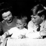 The Queen playing with Princes Edward and Andrew in June 1965 Photo C GETTY